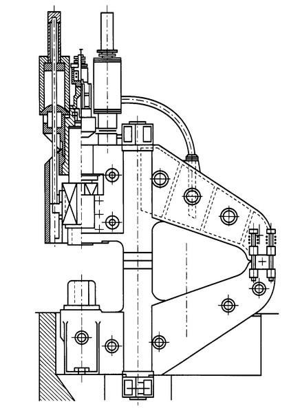 Конструктивная схема ковочного